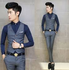 online shop houndstooth swallow gird men suits vests 2015 new