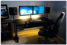 stand up desk multiple monitors computer desk for multiple monitors pertaining to dual monitor setup