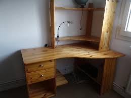 bureau d angle en pin photo bureau etagere