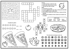 pizza 2 childrens menu restaurant placemats pizza party year