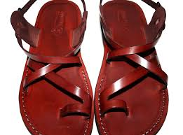 brown roxy unisex leather sandals genuine handmade leather holy