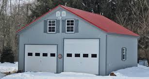 2 story prefab garage horizon structures garage construction