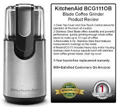 Kitchenaid Burr Coffee Grinder Review Kitchenaid Bcg111ob Blade Coffee Grinder Review