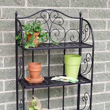 Bakers Rack Shelves Brixton Indoor Outdoor Folding Bakers Rack Review Bakers Racks