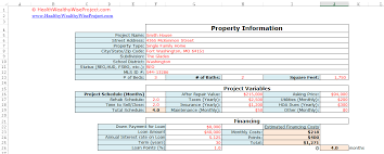 Project Finance Term Sheet Exle by Fix N Flip Rehab Analyzer For Excel Healthywealthywiseproject