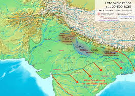 India On A Map The Vedic Period Or Vedic Age C 1500 U2013 C 500 Bce Was The