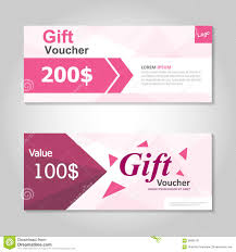gift card discount pink gift voucher template layout design set certificate