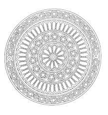 print free coloring coloring mandala 1
