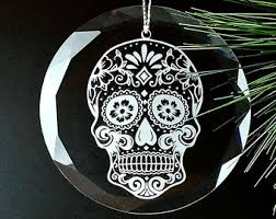 sugar skull ornament etsy