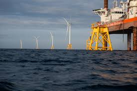 america u0027s first offshore wind farm spins to life the new york times