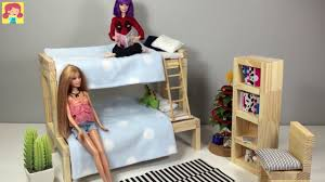 How To Make Homemade Dollhouse Furniture How To Make Doll Bed For Barbie Chelsea Diy Doll Furniture Making