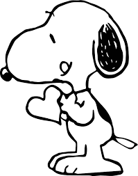 wallpaper snoopy love coloring page wecoloringpage