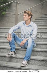 Sliding Down Banister Happy Young Man Sliding Down Railing Stock Photo 52755874