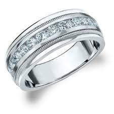 mens wedding rings white gold men s wedding bands groom wedding rings for less overstock