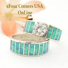 Opal Wedding Ring Sets by Bridal Engagement Wedding Ring Sets Navajo Wedding Rings Four