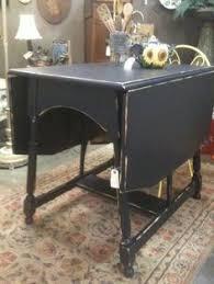 Antique Drop Leaf Table Restored Vintage Drop Leaf Table With Castors And Single Drawer In