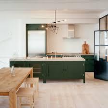 kitchens simple kitchen with green kitchen island also pine wood