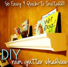 Vinyl Rain Gutter Bookshelves - more thorough rain gutter book shelf instructions homeschool