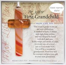 personalized granddaughter gifts personalized grandchild gift cross handmade glass