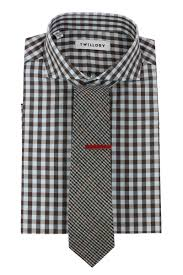 gingham shirt houndstooth tie red tie bar combo bows n ties com
