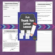 classroom freebies too writing a thank you letter
