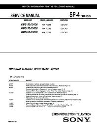 sony kds 60a3000 l replacement instructions sony kds 50a3000 kds 55a3000 kds 60a3000 service manual page 2