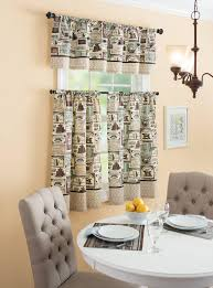 Cafe Kitchen Curtains Coffee Themed Kitchen Curtains With Decor Ideas Collection Picture
