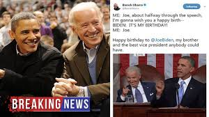 Obama Birthday Meme - hot news barack obama wishes joe biden happy birthday with a meme
