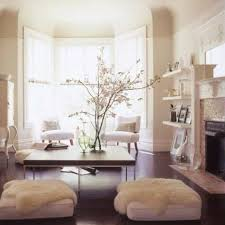 floor cushion seating with fur and coffee table cheerful