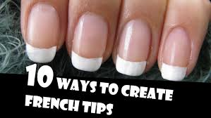 easy way to french manicure your own nails nail polish tricks