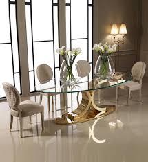 oval glass dining table designer 24 carat gold plated oval glass dining set oval glass