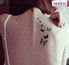 black butterfly temporary tattoos for fingers wrist