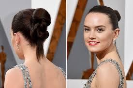 star wars hair styles daisy ridley oscars 2016 the best beauty and hair looks