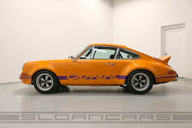 porsche 911 orange 1972 porsche 911 rsr tribute signal orange black sloan cars