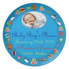baby birth plates personalized birth date plates zazzle