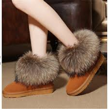 womens flat boots australia high quality australia warm winter boots fox fur