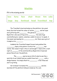 matilda fill in the missing words activity by kayld teaching