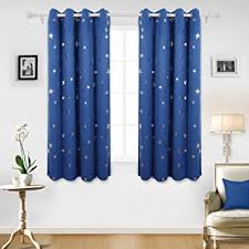 deconovo stars foil printed thermal insulated ready made curtains
