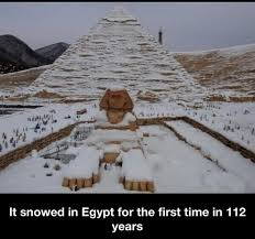 Snow Memes - snow in egypt for the first time in 112 years meme by soydolphin