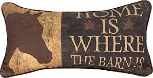 amazon com decorative pillows home is where the barn is pillow