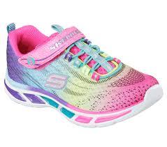 rainbow light up shoes skechers 10667 mlt s s lights litebeams sneaker walmart com