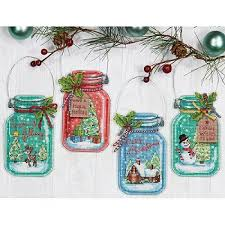 dimensions cross stitch dimensions jar ornaments cross stitch