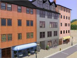 apartment lot for your city sim kyriat lots pinterest sims