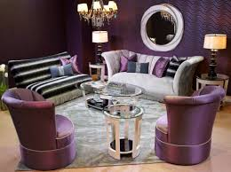 Purple Living Room Chair by Decorating Ivory Velvet And Purple Living Set By Michael Amini