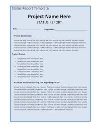 Project Weekly Status Report Template Excel Weekly Status Report Template Free Formats Excel Word