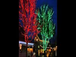 christmas lights for outdoor trees youtube