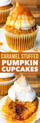 Pumpkin Cupcakes by Dairy U0026 Gluten Free Caramel Stuffed Pumpkin Cupcakes The Loopy Whisk