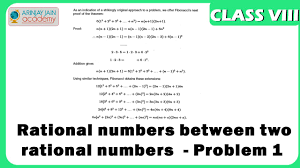 finding rational numbers between two rational numbers problem 1