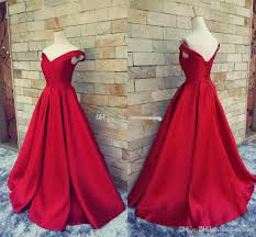 2017 simple dark red prom dresses long formal pageant gowns with