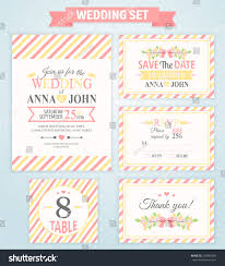 wedding invitation template thank you card stock vector 328349054